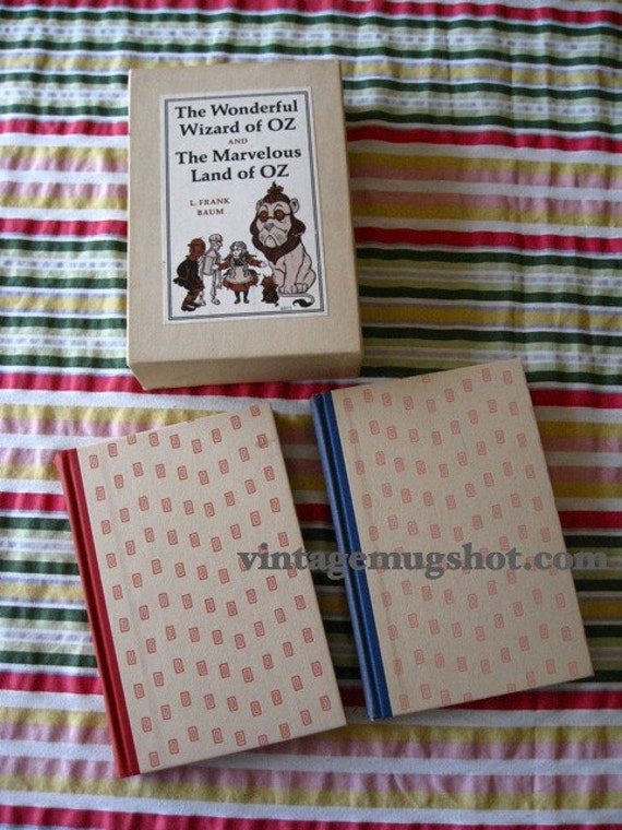 Reserved for CellaWIZARD OF OZ  Hardcover 1966 Boxed Set Book Set Exc Cond. looks unused 2 Books
