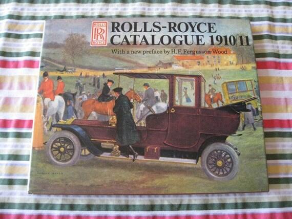 ROLLS-ROYCE Catalogue 1910-11 Hardbound Book Photos Paintings  1974
