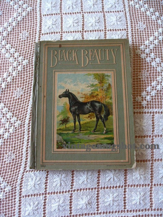 1912 BLACK BEAUTY  Book New York  Antique Anna Sewall Illustrated