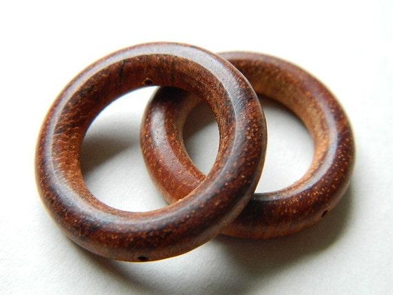 Two Bayong Wood O Ring Beads