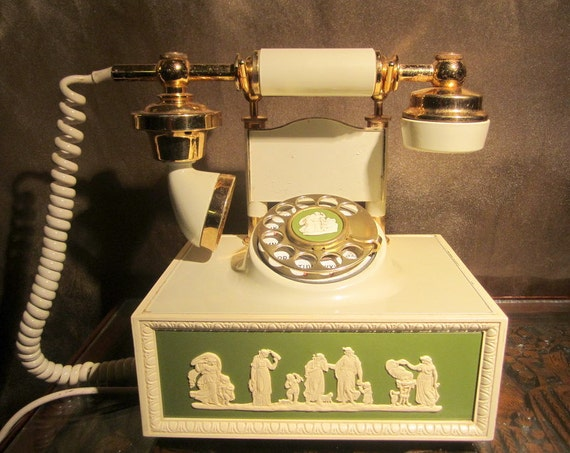 Vintage Grecian Style Cameo Rotary Phone