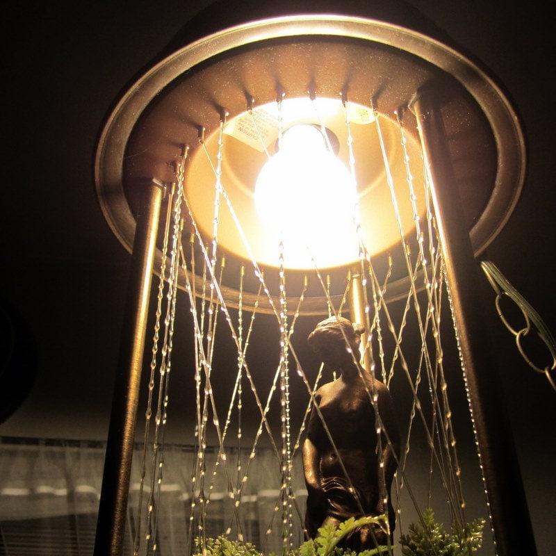 Vintage Goddess Rain Lamp Mid Century Swag