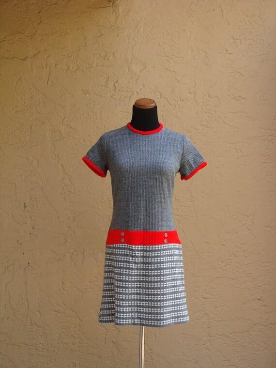 Vintage Warm Sixties Grey Dress, BeastlyLettuce Vintage