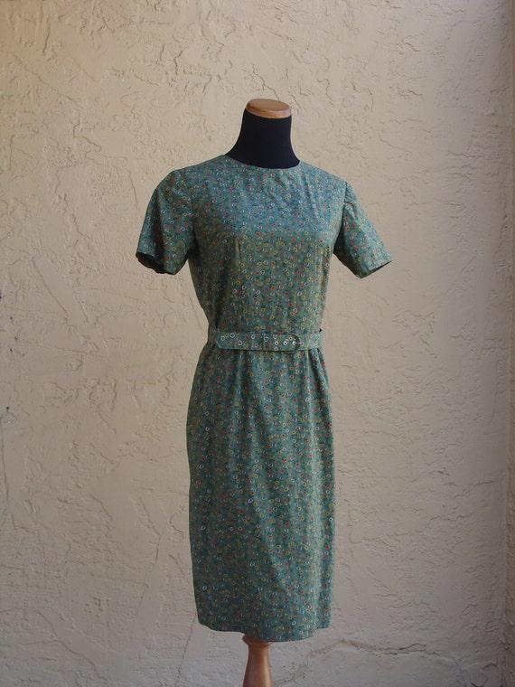 Vintage Handmade Cotten Wiggle Dress, BeastlyLettuce Vintage