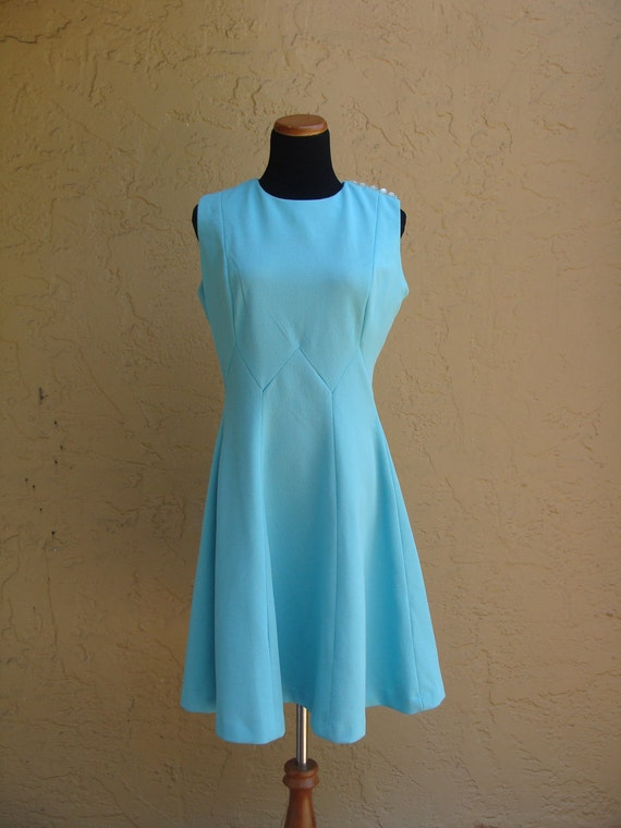 Vintage Sixties Sky Blue Dress, BeastlyLettuce Vintage