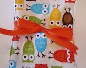 Burp Cloth - Cloth Diaper Burp -Owls in Bermuda
