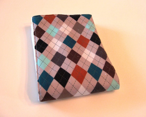Burp Cloth - Cloth Diaper Burp - Baby Boy plaid diamonds