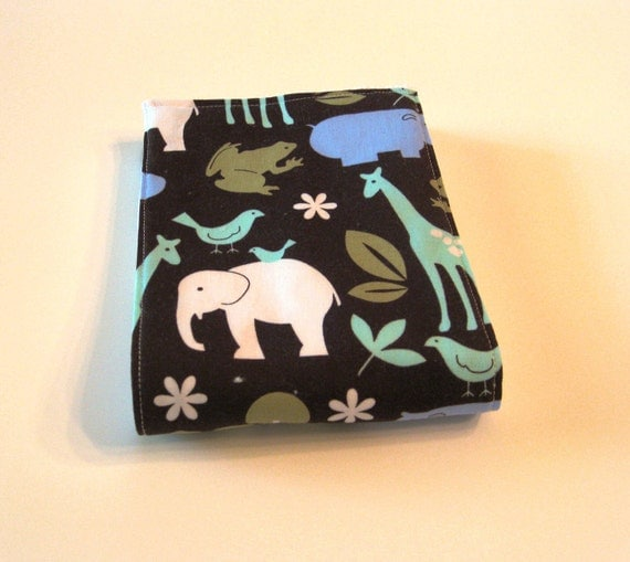 Burp Cloth - Cloth Diaper Burp - Baby Boy Zoology in Blue