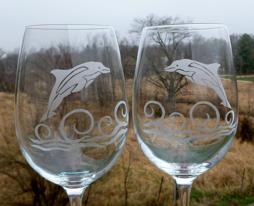 Christmas Tree Wine Glasses