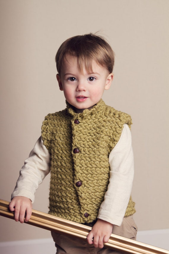 Knitting Pattern Vest Child : KNITTING PATTERN PDF file for childs unisex