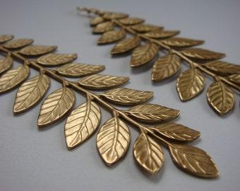 Long Bold Leaf Earrings