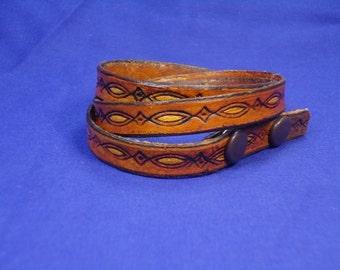 Leather Wrap Around Bracelet - Wrist Band