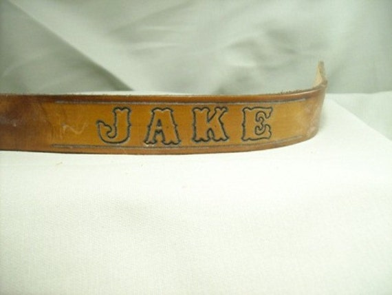 Leather Personalized Dog Collar - Small to Medium Length