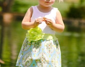 South Pacific tank dress. Ready to Ship sizes: 2T, 5T
