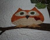 Baby Quilt Owl - Hootie has a heart