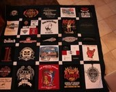 Deposit on a Custom T shirt Memory quilt blanket - FREE SHIPPING