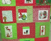 Christmas Lap Quilt -  Dr Seuss's How the Grinch Stole Christmas Black Friday Special 10% off