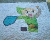 Legend of Zelda LINK lap quilt