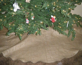 Rustic Burlap Christmas Tree Skirt Free Shipping