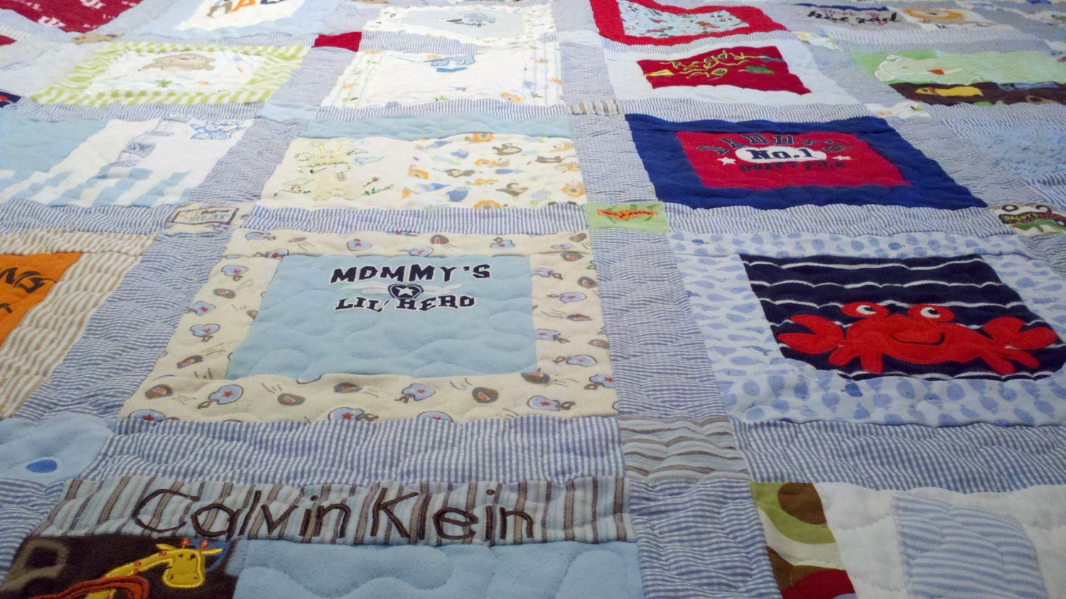 Baby Clothes Memory Quilt Blanket Deposit
