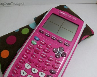 Clearance ! Polka Dots calculator case. Specifically for Graphing calculators.