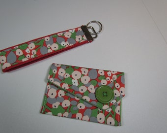 Business Card Case and Key Fob -Key Chain Set