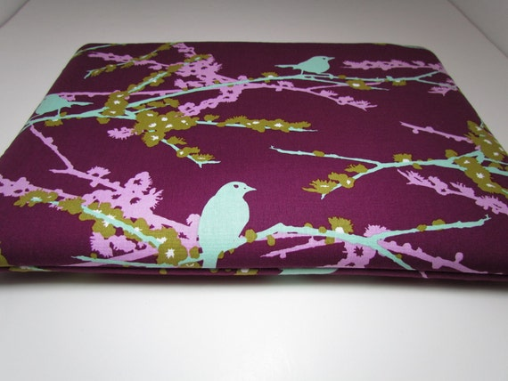 Laptop Case Sleeve 13 inch Macbook Case fits Laptops- Sparrows Lilac by  Joel Dewberry