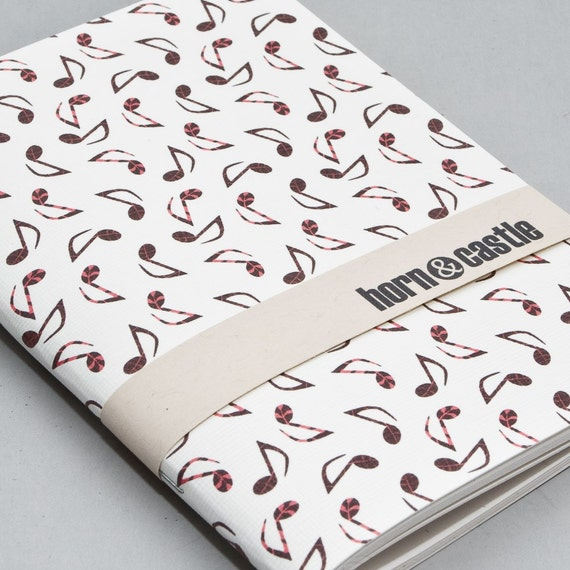 Music Notes Mini Notebook or Journal