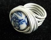 Dutch Delft blue ring
