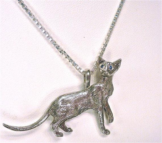 Oriental Shorthair Cat Pendant