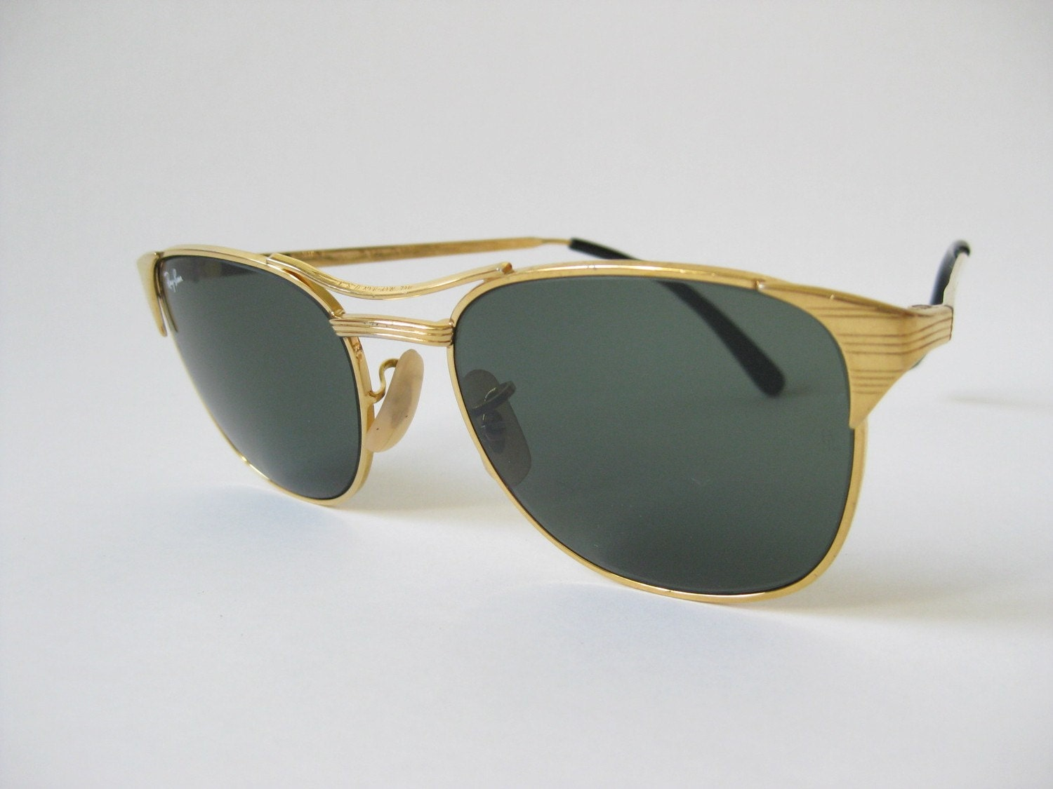 Vintage RAY BAN Signet Gold Frame SUNGLASSES by ...