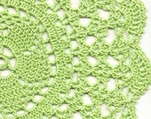 Crochet doily, lace doily, table decoration, crocheted place mat, centre piece,doily tablecloth, table runner, napkin, pastel green