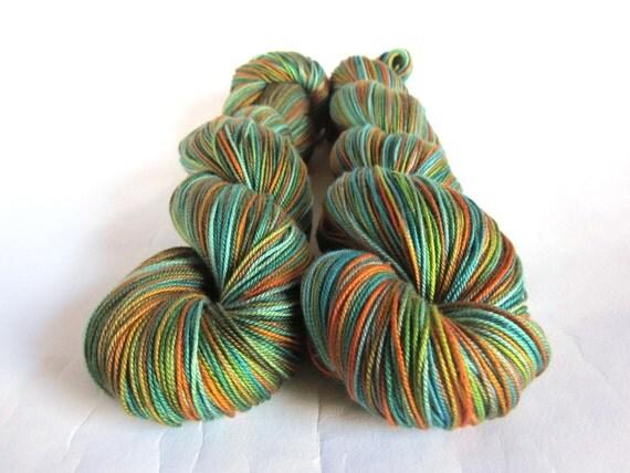 Osiris Pure Silk 4Ply/Fingering Yarn .  Forest Lake