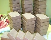 100 Pack Kraft Boxes (2 x 1.5 x .75 in.) // ECONOMY SIZE //