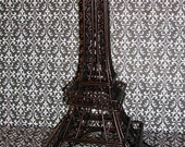 RESERVED Faux Vintage Eiffel Tower in Black
