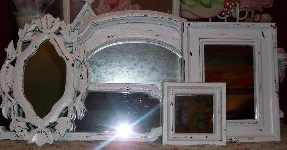 RESERVED KELLYRUSSO 5 Chippy Black Vintage Mirrors