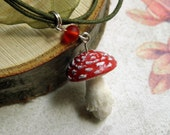 Fairy Toadstool - Necklace