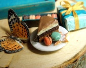 Birthday Tray in Turquoise - Dollhouse Miniature 1/12 scale - Loose Set
