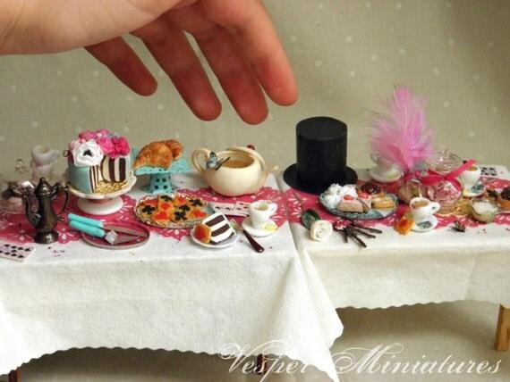 Alice in Wonderland - Tea Party in 1:12 Scale Dollhouse Miniature