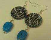 trendy turquoise dangles