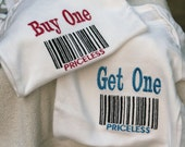 Set of 2 Twins Bar-Code, Buy One Get One Priceless
