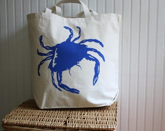 Crab Tote Bag Hand Screened
