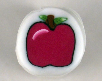 Handmade Polymer Clay Apple Cane, Polymer Clay, Cane, Canes, Unbaked Cane