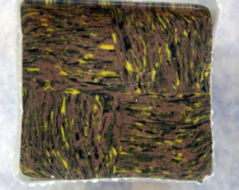 Starry Night Tile Polymer Clay Cane - Yellow/Brown, Polymer Clay, Cane, Canes, Unbaked Cane