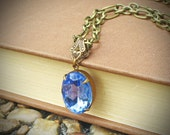 Vintage Rhinestone Necklace, Purple, Blue, Grape, Jewelry by rewelliott on Etsy