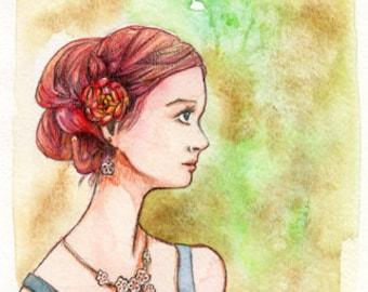 ORIGINAL Watercolor Painting - My Fair Lady