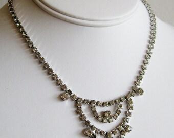 Vintage 50s Marilyn Monroe Rhinestone Designer Hollywood Starlet Necklace