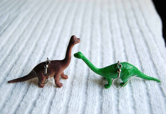 Long Necklace Dinosaur Earrings