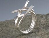 Sterling Silver Sticks Ring-Handmade