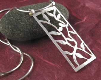 Sterling Silver Vines Pendant-Handmade